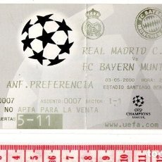 Coleccionismo deportivo: D50 CHAMPIONS LEAGUE UEFA REAL MADRID 2 BAYERN MUNICH 0 ALEMANIA GERMANY 3-05-2000 SANTIAGO BERNABEU. Lote 83119768