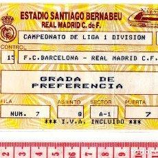 Coleccionismo deportivo: D50 LIGA AÑOS 80 REAL MADRID BARCELONA PARMALAT SANTIAGO BERNABEU. Lote 83123532