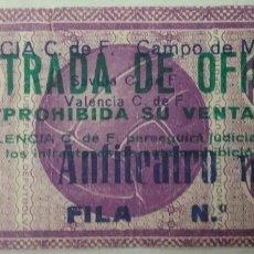 Coleccionismo deportivo: ENTRADA: VALENCIA C.DE F. CAMPO DE MESTALLA.. Lote 83341946