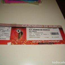 Coleccionismo deportivo: CAJ-98 ENTRADA DE FUTBOL CIUDAD MURCIA CEUTA 2002 . Lote 84768408