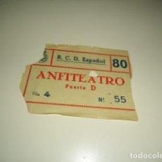 Colecionismo desportivo: CAJ-98 ENTRADA ENTRADAS FUTBOL ESPAÑOL ANFITEATRO . Lote 85097588