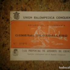 Coleccionismo deportivo: ENTRADA DE FUTBOL ANTIGUA ESTADIO DE LA FUENTESANA. Lote 86046696