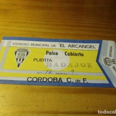 Coleccionismo deportivo: ENTRADA ANTIGUA CORDOBA CF-CD BADAJOZ AÑO 1990. Lote 88801108