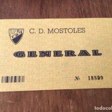 Coleccionismo deportivo: R2467 ENTRADA TICKET FUTBOL C.D. MOSTOLES MADRID. Lote 88817116