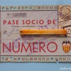 Coleccionismo deportivo: ENTRADA CAMPO MESTALLA TEMPORADA 1943 1944 PASE ANUAL VALENCIA C.F.. Lote 89526440