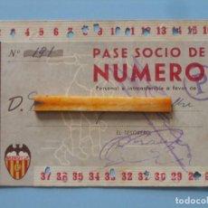 Coleccionismo deportivo: ENTRADA CAMPO MESTALLA 1945 PASE ANUAL VALENCIA C.F.. Lote 89526448