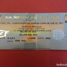 Coleccionismo deportivo: FINAL COPA DEL REY 1998. MESTALLA. FC BARCELONA- MALLORCA. ENTRADA ORIGINAL.. Lote 89672740