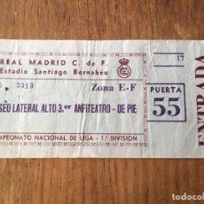 Coleccionismo deportivo: R2561 ENTRADA TICKET FUTBOL REAL MADRID ESTADIO SANTIAGO BERNABEU LIGA. Lote 89856424