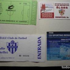 Coleccionismo deportivo: LOTE ENTRADAS FUTBOL ESPAÑOL. Lote 90166648