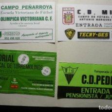 Coleccionismo deportivo: LOTE ENTRADAS FUTBOL ESPAÑOL. Lote 90166668
