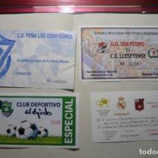 Coleccionismo deportivo: LOTE ENTRADAS FUTBOL ESPAÑOL. Lote 90166716