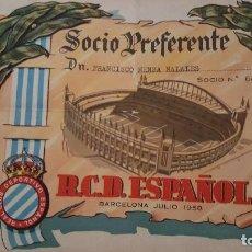 Coleccionismo deportivo: REAL CLUB DEPORTIVO ESPAÑOL 1958. Lote 92187845