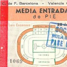 Coleccionismo deportivo: ENTRADA MESTALLA: VALENCIA-BARÇA 1981. Lote 94487502