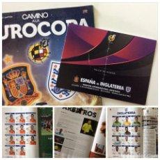 Coleccionismo deportivo: ENVÍO 8€. REVISTA Y ENTRADA OFICIAL PALCO DE HONOR,CAMINO A LA EUROCOPA ESPAÑA VS INGLATERRA 2015. Lote 94972155