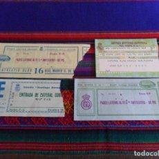 Coleccionismo deportivo: LOTE 4 ENTRADAS REAL MADRID ATHLETIC DE BILBAO EN EL SANTIAGO BERNABÉU CON REGALO. AÑOS 80. RARAS.. Lote 95673239