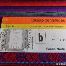 Coleccionismo deportivo: ENTRADA RAYO VALLECANO ATHLÉTIC DE BILBAO 1-0. ESTADIO DE VALLECAS. BUEN ESTADO.. Lote 95673739