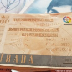 Coleccionismo deportivo: ENTRADA CAMP NOU FC BARCELONA - RC CELTA 22-12-1996 LIGA. Lote 95757854