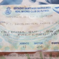 Coleccionismo deportivo: ENTRADA SANTIAGO BERNABÉU. LIGA 93/94 REAL MADRID - BARCELONA. Lote 95758228