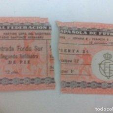 Coleccionismo deportivo: PARTIDO INTERNACIONAL ESPAÑA B FRANCIA B AÑO 1955 PARTIDO COPA DEL MEDITERRANEO. Lote 96382359