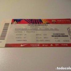 Coleccionismo deportivo: LOTE 7 ENTRADAS DE FUTBOL F.C BARCELONA SALIDA VER 7 IMAGENES 1 EURO. Lote 96548667