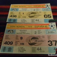 Coleccionismo deportivo: MUNDIAL ESPAÑA 82 2 ENTRADAS PARTIDO 44 ESPAÑA ALEMANIA. 2 JULIO 1982.. Lote 95671103