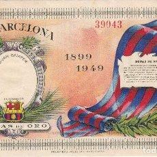 Coleccionismo deportivo: ENTRADA DE LAS BODAS DE ORO DEL C.F.BARCELONA 1899-1949 CON SU HISTORIAL DEPORTIVO (BARÇA). Lote 97353103