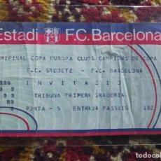 Coleccionismo deportivo: ENTRADA TICKET RECOPA DE EUROPA FUTBOL1988-89- FC BARCELONA VS CFKA SREDETS (CSKA SOFIA), 4-2. . Lote 97376903