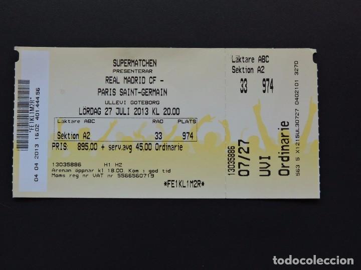 Entrada Ticket Fútbol Real Madrid Vs Paris Sa Kaufen Alte Fußball Tickets In Todocoleccion 97462591