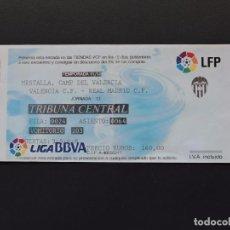 Coleccionismo deportivo: ENTRADA TICKET FÚTBOL - VALENCIA VS REAL MADRID - MESTALLA - 20 NOVIEMBRE 2011. Lote 97463555