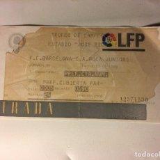 Coleccionismo deportivo: ENTRADA LFD FUTBOL ESTADIO RICO PEREZ F.C. BARCELONA 1999. Lote 97705115