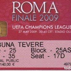 Coleccionismo deportivo: ENTRADA DE LA FINAL CHAMPIONS LEAGUE 2009 FC BARCELONA VS MANCHESTER UNITED EN ROMA. Lote 97731271