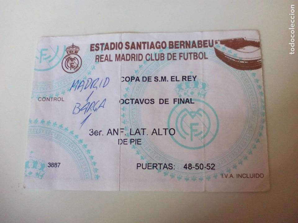 ENTRADA REAL MADRID COPA DE S.M. REY OCTAVOS DE FINAL (Coleccionismo Deportivo - Documentos de Deportes - Entradas de Fútbol)