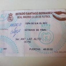 Coleccionismo deportivo: ENTRADA REAL MADRID COPA DE S.M. REY OCTAVOS DE FINAL. Lote 98007711
