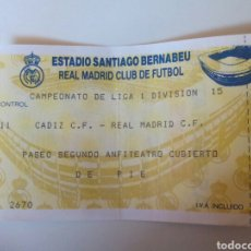 Coleccionismo deportivo: ENTRADA REAL MADRID . Lote 98015208