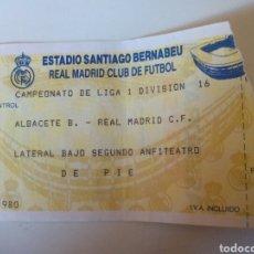 Coleccionismo deportivo: ENTRADA REAL MADRID. Lote 98016554