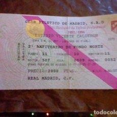 Coleccionismo deportivo: ENTRADA OCTAVOS FINAL COPA REY AÑO 1993 1994 VICENTE CALDERON REAL MADRID ATLETICO MADRID AT . Lote 98035935