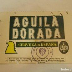 Coleccionismo deportivo: LEVANTE U D PASE TEMPORADA 75 76 PUBLICIDAD CERVEZA EL AGUILA (17). Lote 98088015