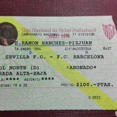 Coleccionismo deportivo: ENTRADA: SEVILLA FC/FC BARCELONA,(1994).. Lote 98199186