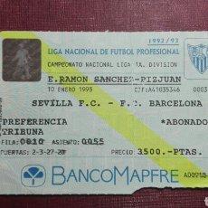 Coleccionismo deportivo: ENTRADA: SEVILLA FC/FC BARCELONA,(1993).. Lote 98199547