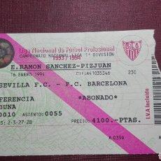 Coleccionismo deportivo: ENTRADA: SEVILLA FC/FC BARCELONA,(1994).. Lote 98200259
