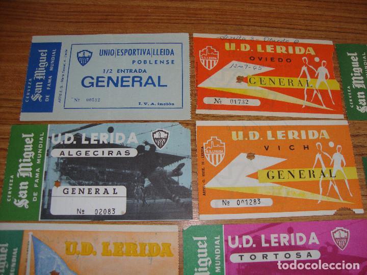 Coleccionismo deportivo: (ALB-TC-18) ENTRADAS DE FUTBOL U.D. LERIDA, U.E. LLEIDA PUBLICIDAD CERVEZA SAN MIGUEL VER FOTOS - Foto 2 - 98470983