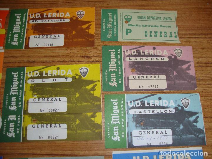 Coleccionismo deportivo: (ALB-TC-18) ENTRADAS DE FUTBOL U.D. LERIDA, U.E. LLEIDA PUBLICIDAD CERVEZA SAN MIGUEL VER FOTOS - Foto 3 - 98470983
