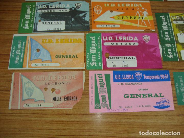 Coleccionismo deportivo: (ALB-TC-18) ENTRADAS DE FUTBOL U.D. LERIDA, U.E. LLEIDA PUBLICIDAD CERVEZA SAN MIGUEL VER FOTOS - Foto 4 - 98470983
