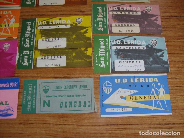 Coleccionismo deportivo: (ALB-TC-18) ENTRADAS DE FUTBOL U.D. LERIDA, U.E. LLEIDA PUBLICIDAD CERVEZA SAN MIGUEL VER FOTOS - Foto 5 - 98470983