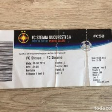 Coleccionismo deportivo: R2990 ENTRADA TICKET STEAUA BUCAREST FC DINAMO 2015. Lote 98507219