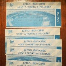 Coleccionismo deportivo: CINCO ENTRADAS FUTBOL FIGUERES. CASTILLA. C. F.. Lote 99453398