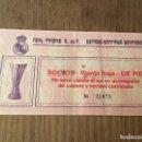 Coleccionismo deportivo: R3103 ENTRADA TICKET REAL MADRID COMPETICION EUROPEA. Lote 101147215