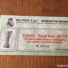 Coleccionismo deportivo: R3104 ENTRADA TICKET REAL MADRID AEK ATENAS UEFA 1985 1986. Lote 101147251
