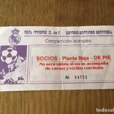 Coleccionismo deportivo: R3107 ENTRADA TICKET REAL MADRID BAYERN MUNICH 1986 1987. Lote 101147683