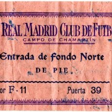 Coleccionismo deportivo: R3204 ENTRADA TICKET INAUGURACION CHAMARTIN SANTIAGO BERNABEU REAL MADRID 1947 OS BELENENSES. Lote 102374743